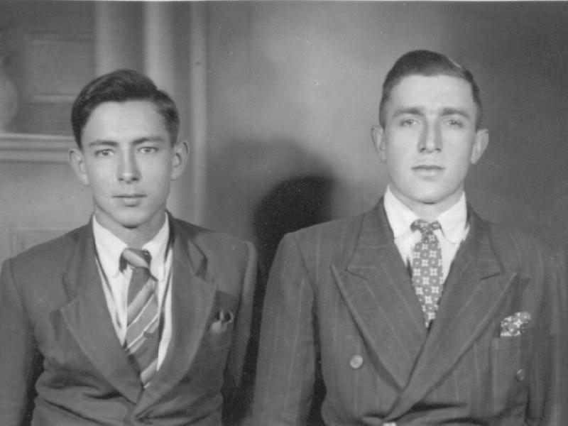 João Cavallaro e amigo de adolescencia Carlos Penhaki