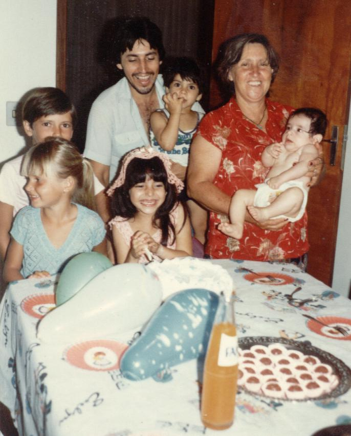 Patrick, Ercílio, Alex, ANA, Ray, Keyla e Tati no seu aniversário em São Miguel do Iguaçu-PR,